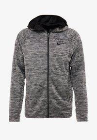 Nike Performance - SPOTLIGHT HOODIE - Zip-up hoodie - black heather - 4