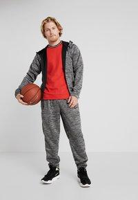 Nike Performance - SPOTLIGHT HOODIE - Zip-up hoodie - black heather - 1