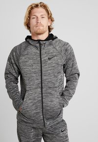 Nike Performance - SPOTLIGHT HOODIE - Zip-up hoodie - black heather - 0