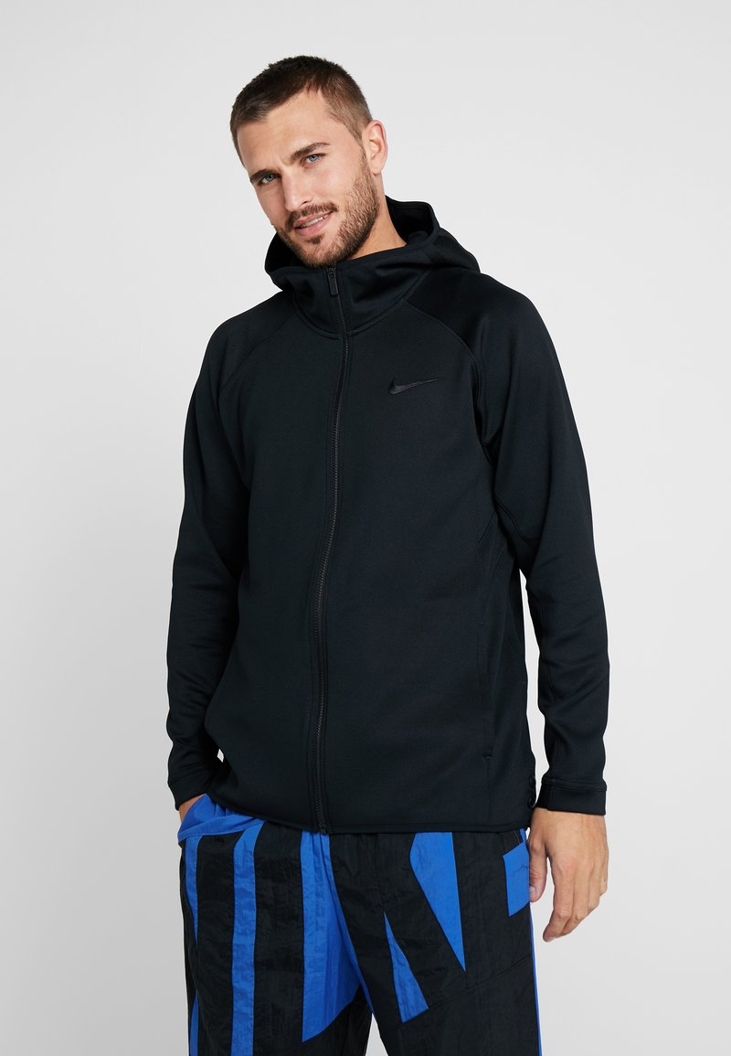 Nike Performance - THERMA FLEX SHOWTIME - Huvtröja med dragkedja - black/dark grey/cool grey