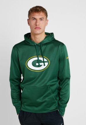 NFL BAY PACKERS LOGO HOODY - Sweat à capuche - fir/university gold