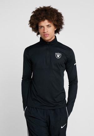 NFL OAKLAND RAIDERS CORE HALF ZIP - Pitkähihainen paita - black/white