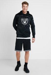 Nike Performance - NFL OAKLAND RAIDERS LOGO HOODY - Squadra - black/white - 1