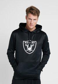 Nike Performance - NFL OAKLAND RAIDERS LOGO HOODY - Squadra - black/white - 0