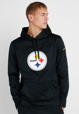 NFL PITTSBURGH STEELERS LOGO HOODY - Hoodie - black/university gold