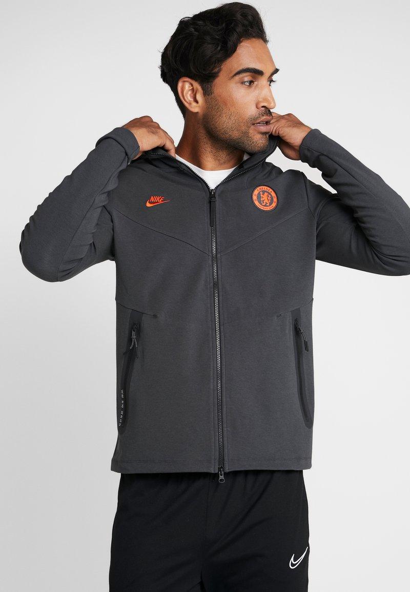 Nike Performance - CHELSEA LONDON HOODIE - Club wear - anthracite/rush orange