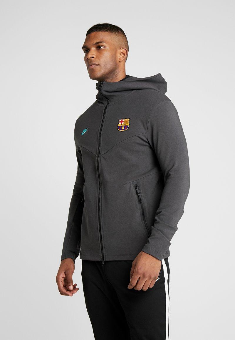 Nike Performance - FC BARCELONA HOODIE  - Sportovní bunda - dark smoke grey/cabana