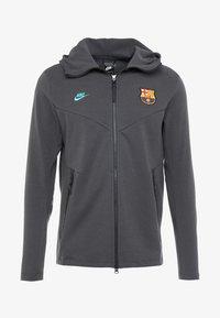 Nike Performance - FC BARCELONA HOODIE  - Sportovní bunda - dark smoke grey/cabana - 4