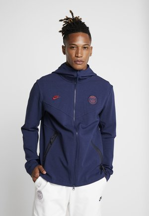PARIS ST GERMAIN HOODIE  - Klubbkläder - midnight navy/university red