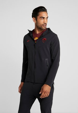 AS ROM TECH PACK HOODIE - Pelipaita - black/team crimson