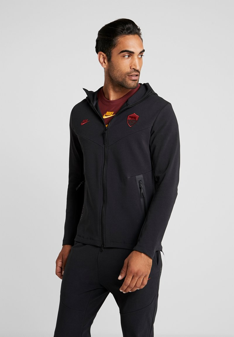 Nike Performance - AS ROM TECH PACK HOODIE - Equipación de clubes - black/team crimson