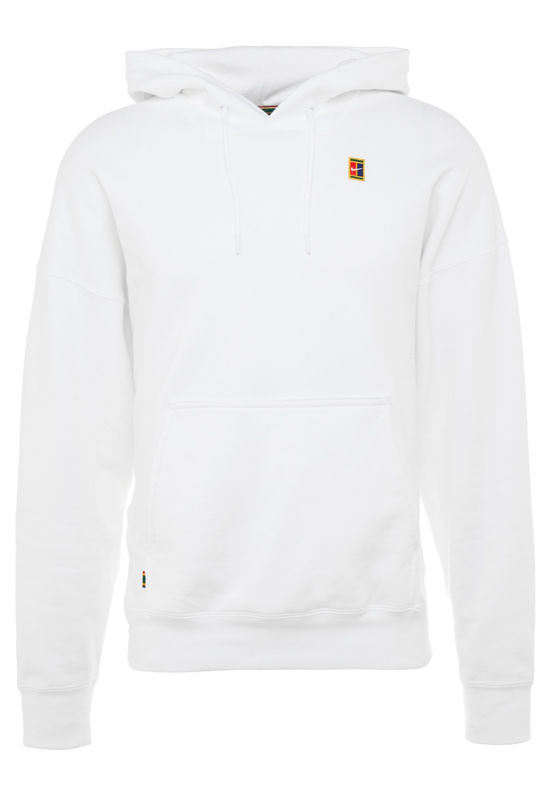 Nike Performance NIKECOURT TENNIS-HOODIE AUS FLEECE FUR HERREN - Felpa con cappuccio - white