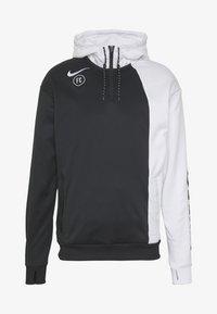 Nike Performance - FC HOODIE - Jersey con capucha - white/black - 4