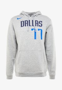 Nike Performance - NBA LUKA DONCIC DALLAS MAVERICKS NAME NUMBER HOODIE - Jersey con capucha - grey heather