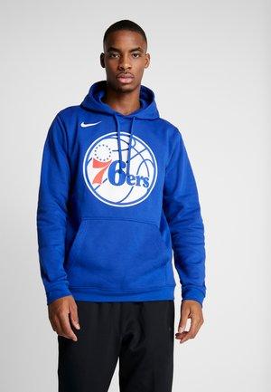 NBA PHILADELPHIA 76ERS FLEECE HOODIE - Mikina skapucí - rush blue