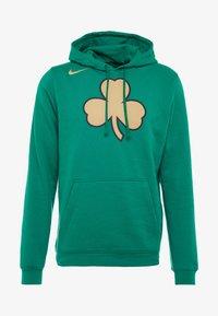 Nike Performance - NBA CITY EDITION BOSTON CELTICS LOGO HOODIE - Club wear - clover - 4