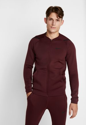 M NK FZ FLC NPC - Training jacket - night maroon