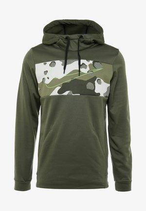 Jersey con capucha - cargo khaki/electric green