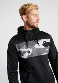 Nike Performance - Hoodie - black/white - 5