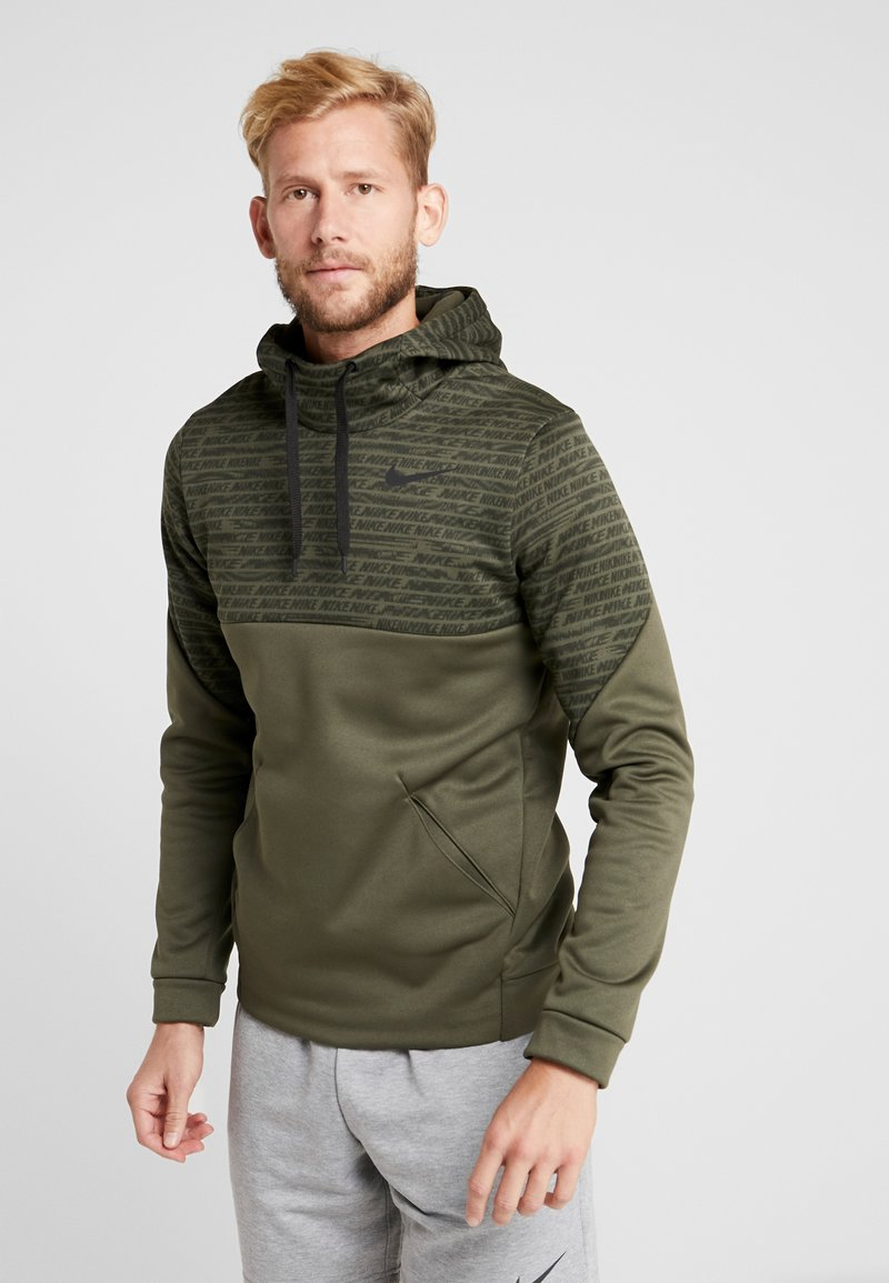 Nike Performance - Luvtröja - khaki/black