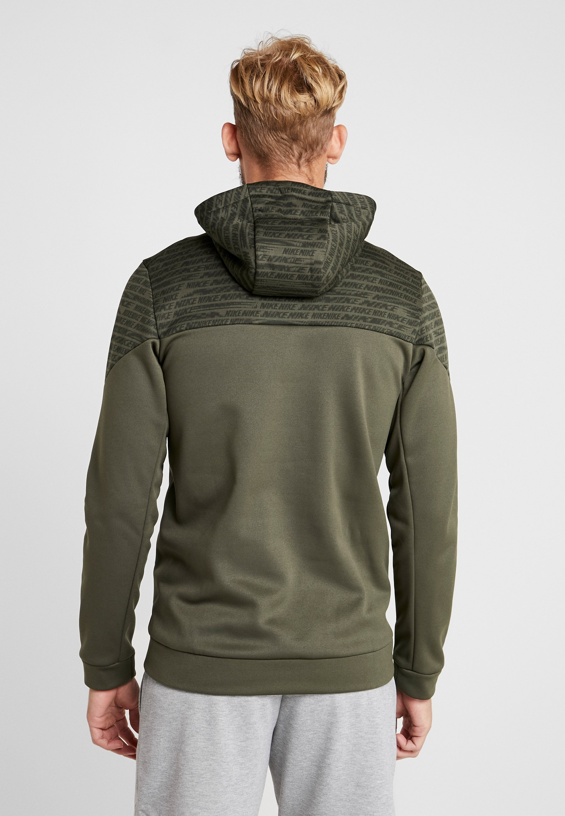Nike Performance Sweat à capuche khaki/black