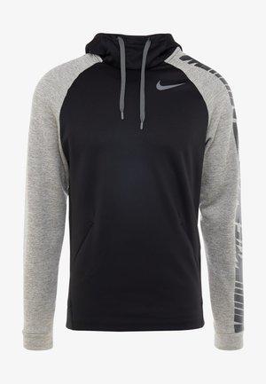Jersey con capucha - black/dark grey heather/smoke grey