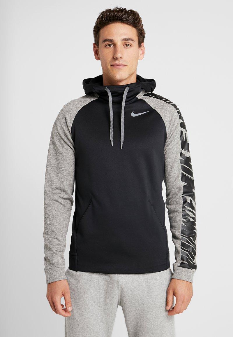 Nike Performance - Hoodie - black/dark grey heather/smoke grey