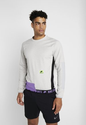 CREW  - Sweatshirt - grey heather/electric green