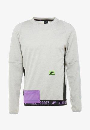CREW  - Sweatshirt - grey heather/electric green