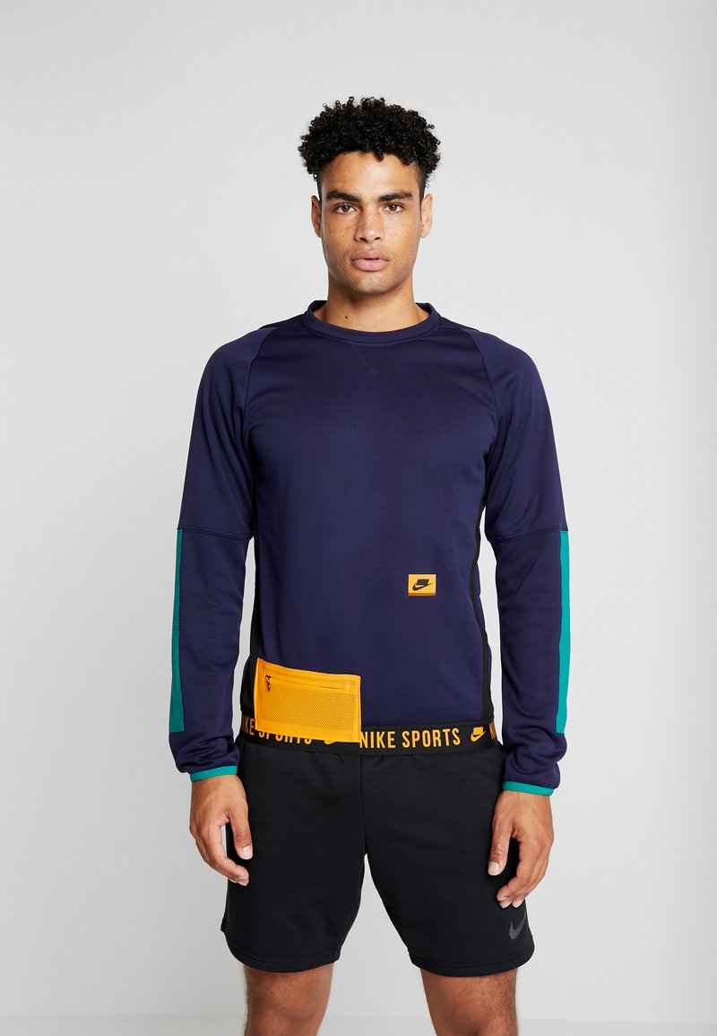 Nike Performance - CREW  - Sweatshirt - blackened blue/bright violet