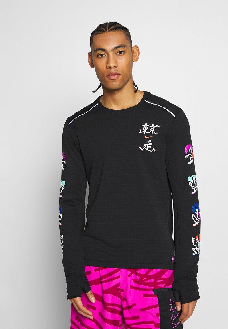 Nike Performance - CREW - Fleece jumper - black