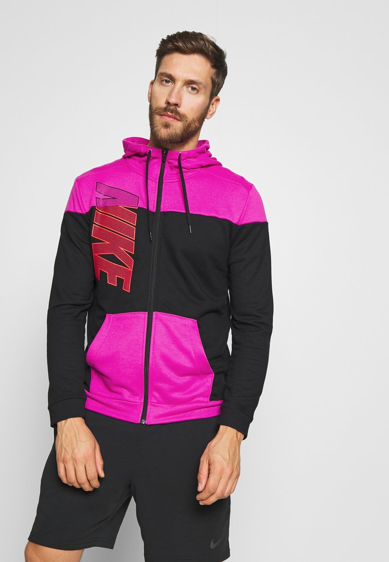Nike Performance - DRY HOODIE - Collegetakki - fire pink/black