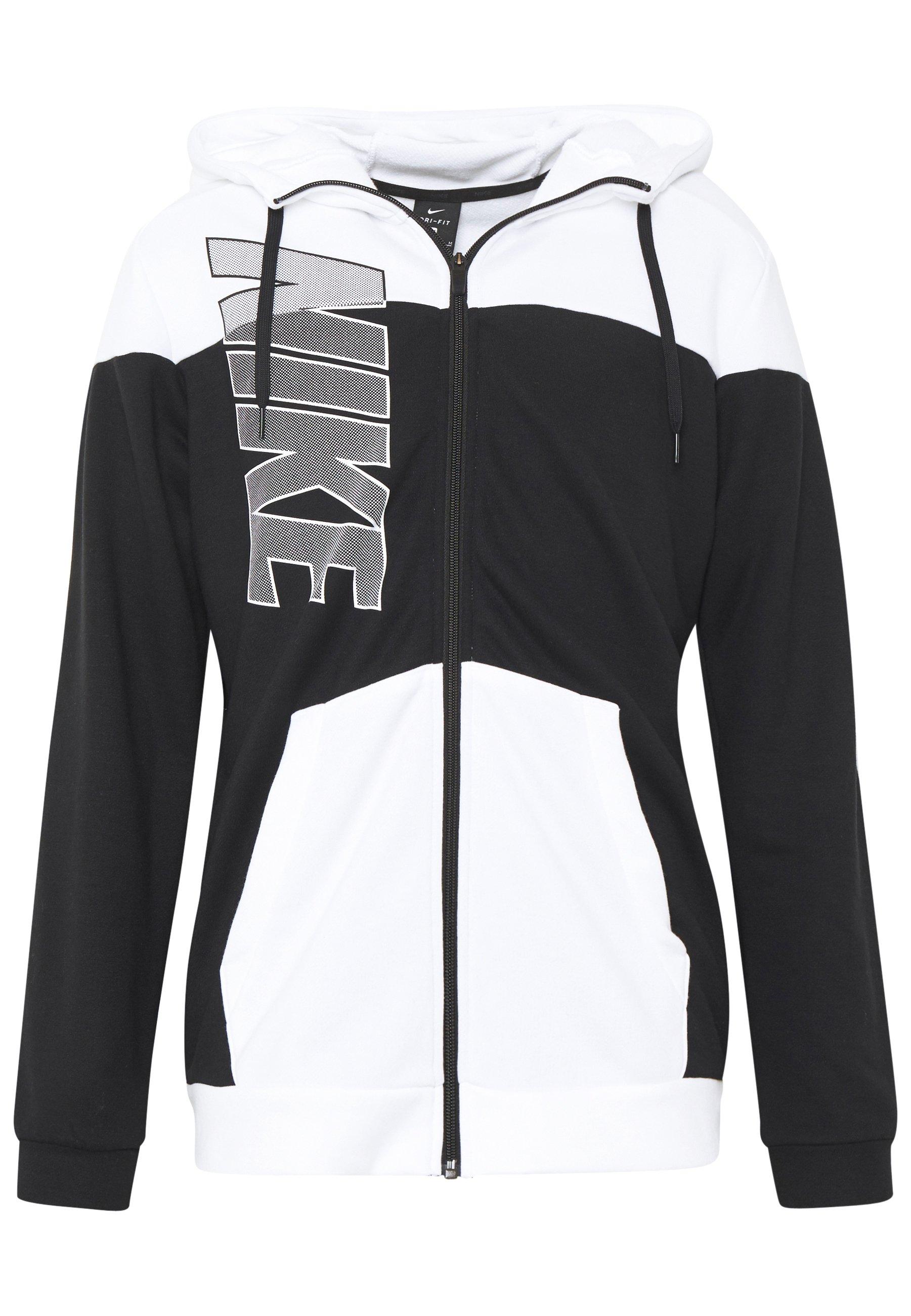 Nike Performance Dry Hoodie - Veste En Sweat Zippée Black/white