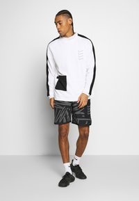 Nike Performance - M NK DRY TOP FLEECE PX - Felpa - white/black - 1