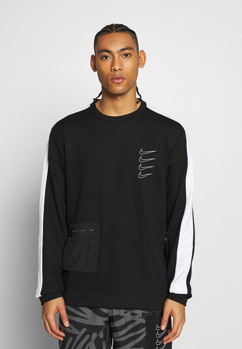 Nike Performance - M NK DRY TOP FLEECE PX - Sweatshirt - black/white