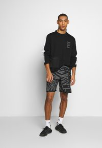 Nike Performance - M NK DRY TOP FLEECE PX - Sweatshirt - black/white - 1