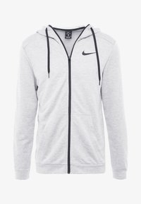 Nike Performance - DRY  - Sudadera con cremallera - dark grey heather/black