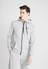 Nike Performance - DRY  - Sudadera con cremallera - dark grey heather/black - 0