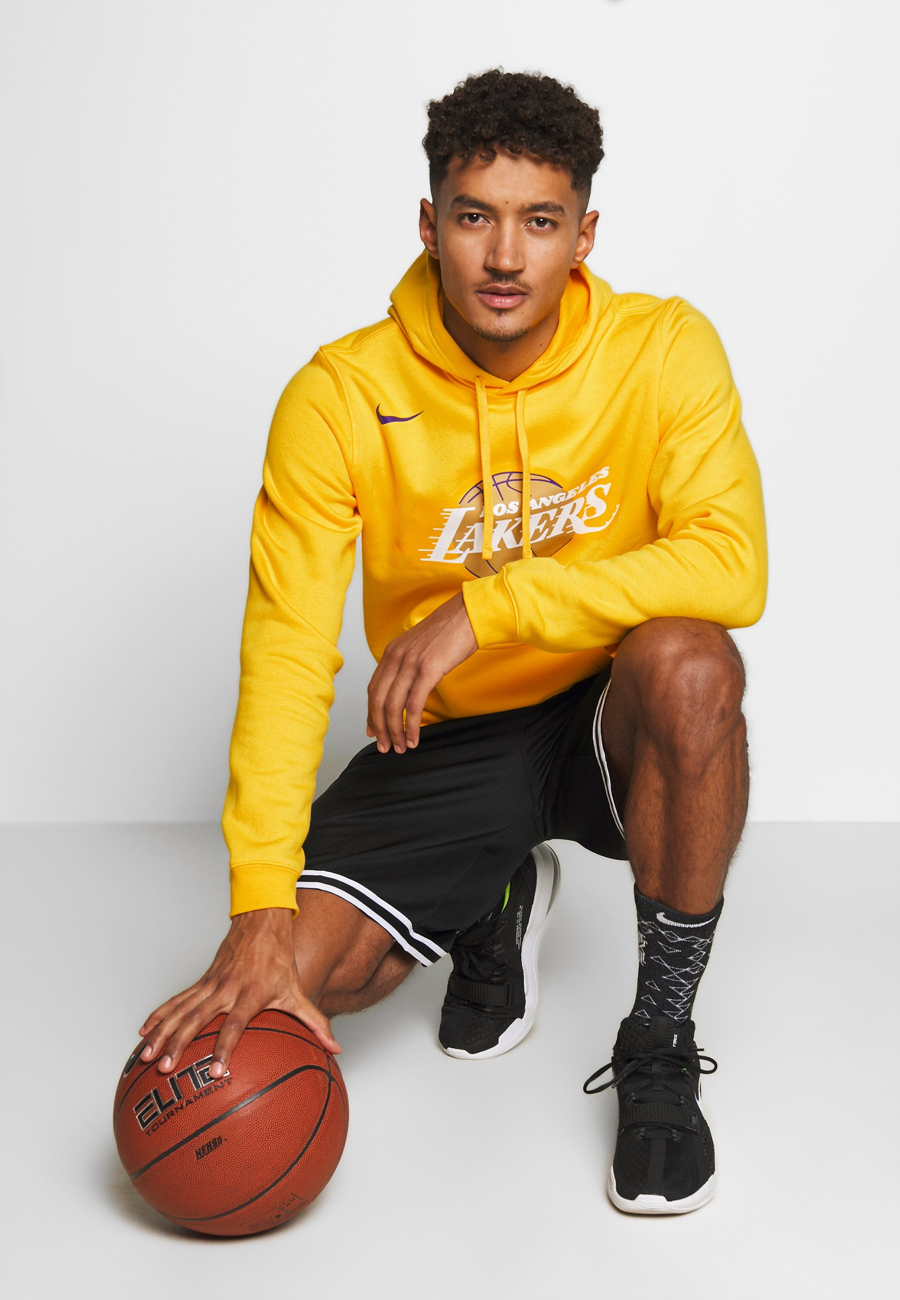 Nike Performance NBA LOS ANGELES LAKERS CITY EDITION LOGO HOODIE - Artykuły klubowe - amarillo