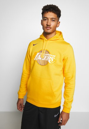 NBA LOS ANGELES LAKERS CITY EDITION LOGO HOODIE - Klubové oblečení - amarillo