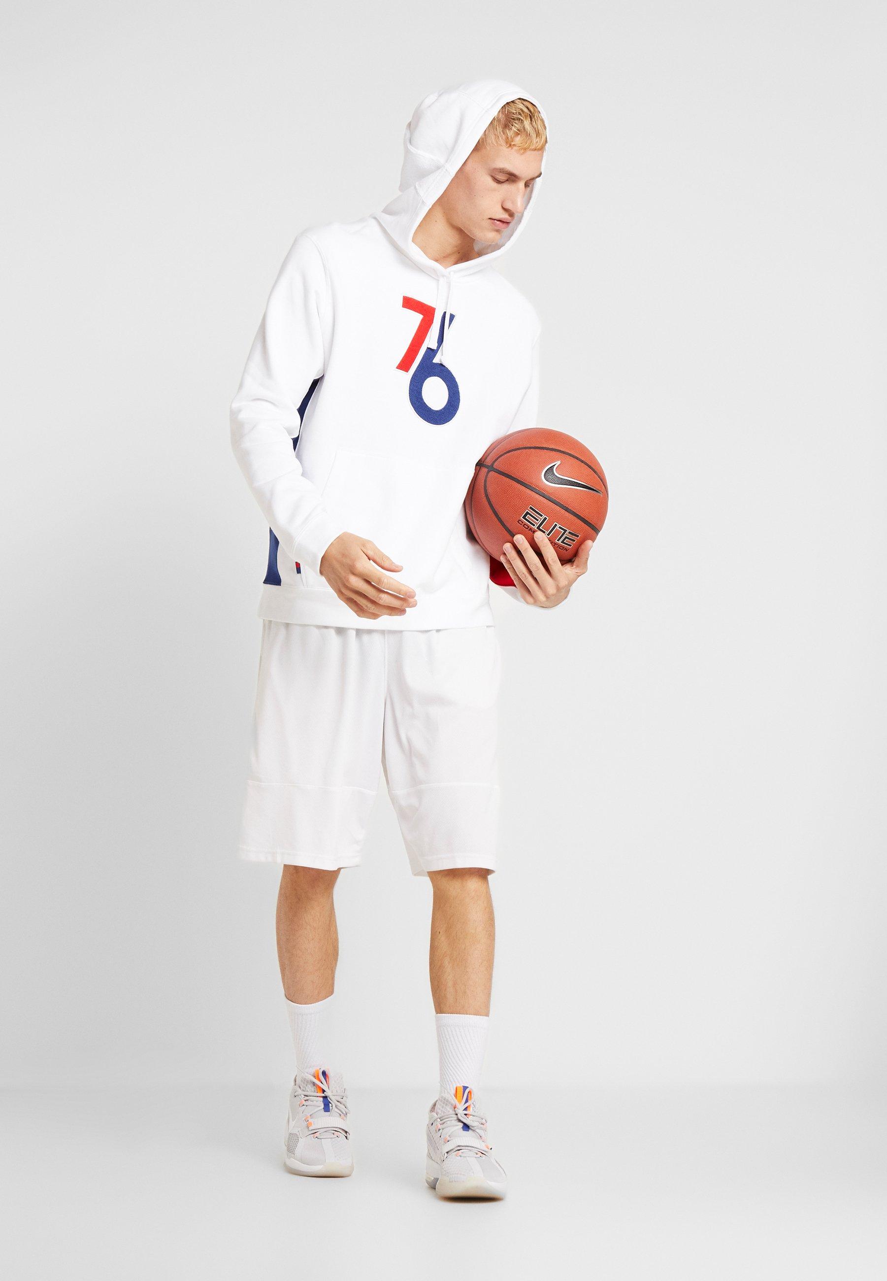 Nike Performance Nba Courtside Hoody Philadelphia 76ers Earned - Luvtröja White/rush Blue/university Red