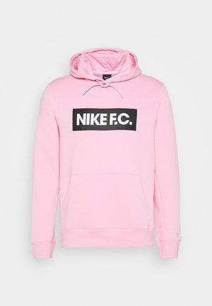 NIKE F.C. FUSSBALL-FLEECE-HOODIE FÜR HERREN - Sweat à capuche - pink/white/white