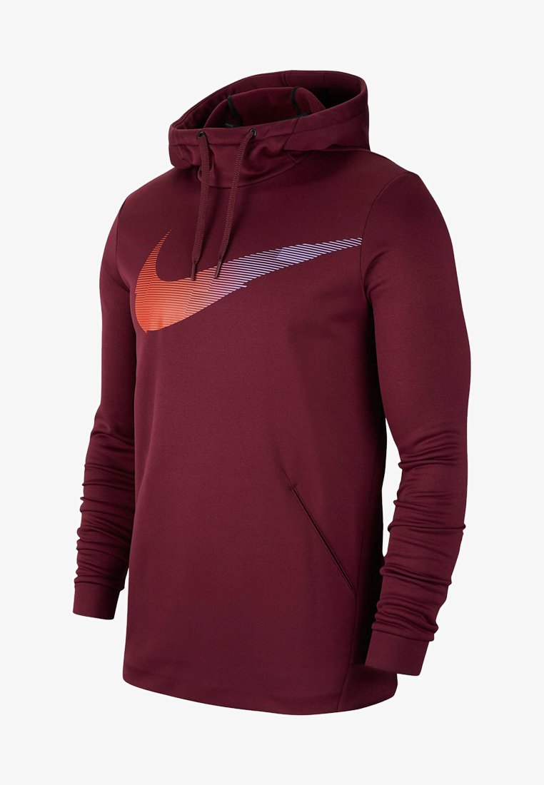 Nike Performance - THERMA - Jersey con capucha - dark brown