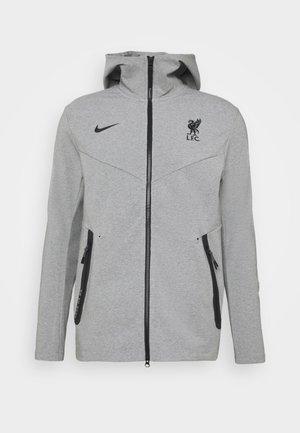 LIVERPOOL FC HOODIE - Club wear - dark grey heather/black