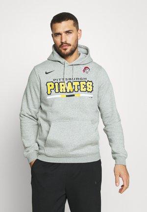 MLB PITTSBURGH PIRATES COLOR BAR CLUB HOODIE - Club wear - dark grey heather