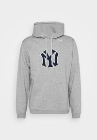 Nike Performance - MLB NEW YORK YANKEES COOPESTOWN PATCH HOODIE - Klubové oblečení - dark grey heather - 4