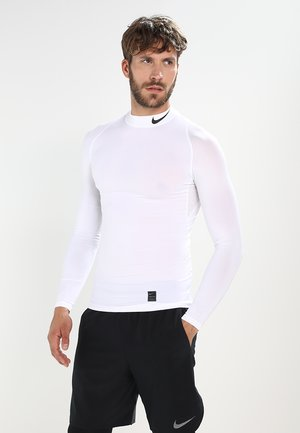 PRO COMPRESSION MOCK - T-shirt sportiva - white/black