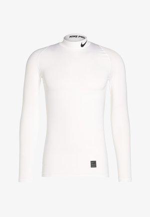 PRO COMPRESSION MOCK - Sports shirt - white/black