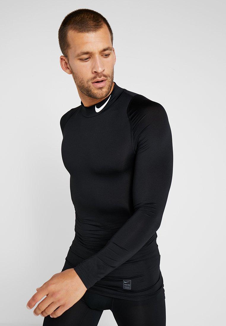 Nike Performance - PRO COMPRESSION MOCK - T-shirt de sport - black/white
