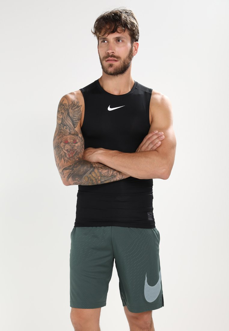 Nike Performance - PRO COMPRESSION SLEEVELESS - Funktionströja - black/white/white